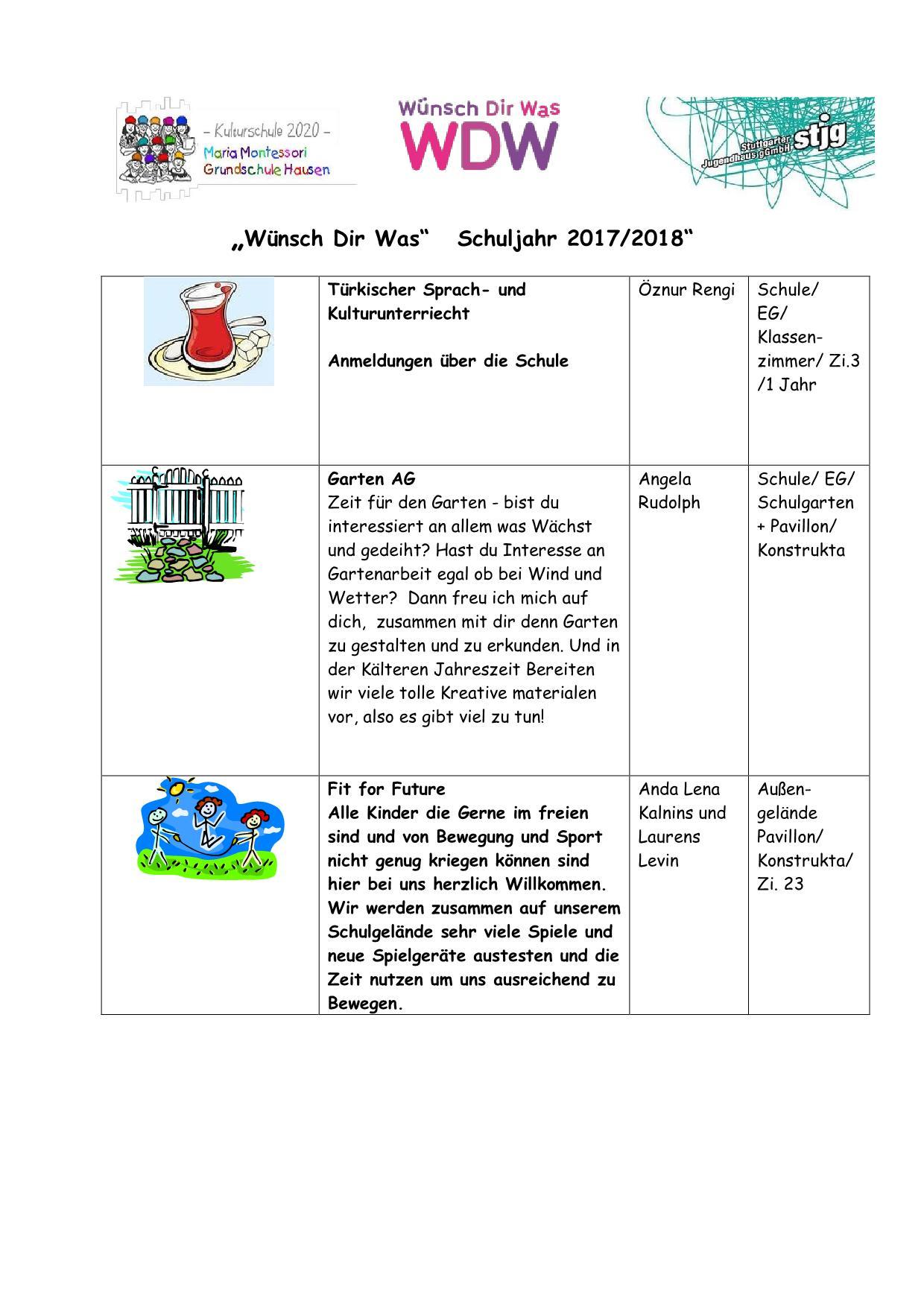 Ganztagesschule | Maria Montessori Grundschule Hausen